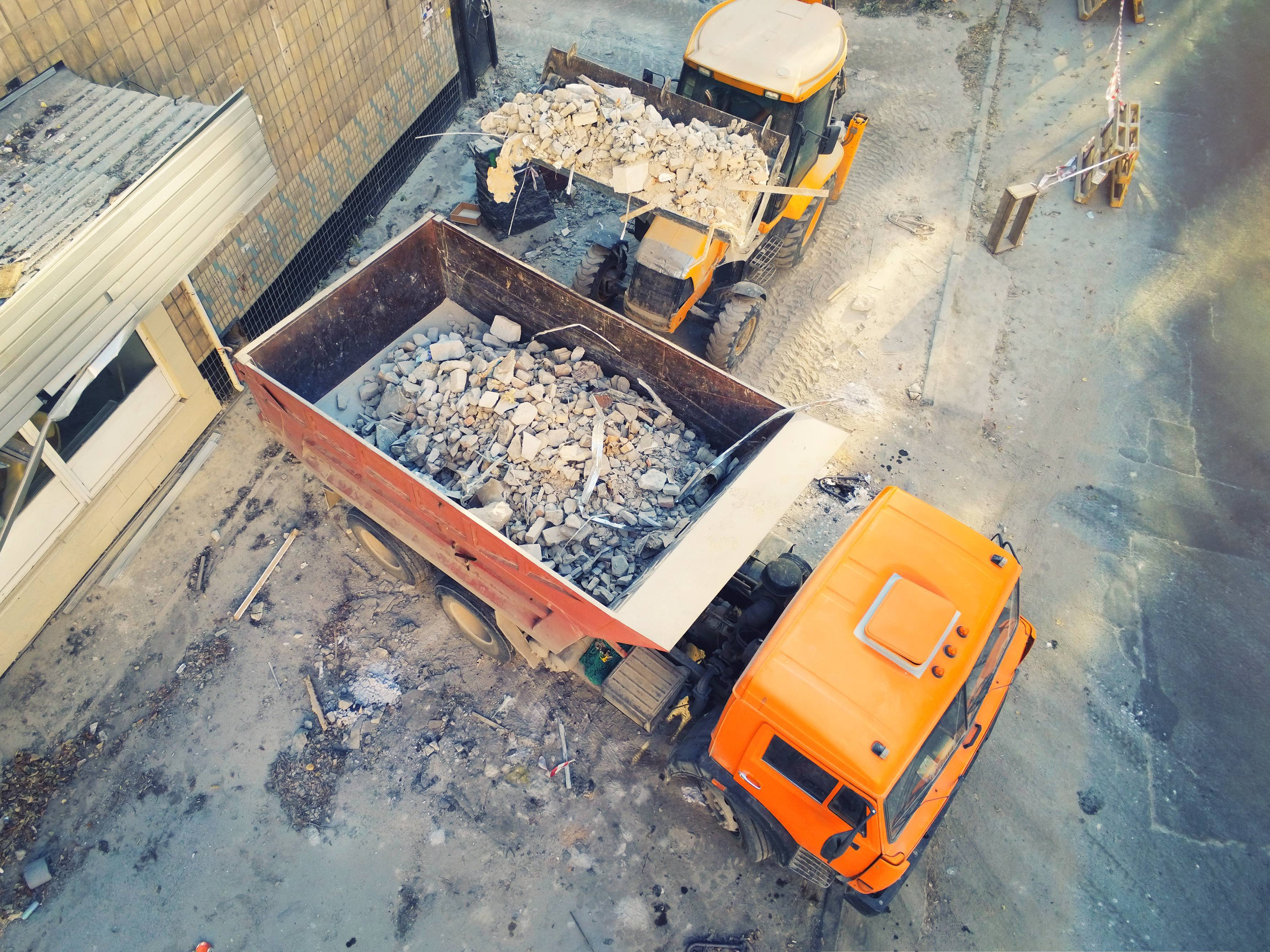 transport déchets camions