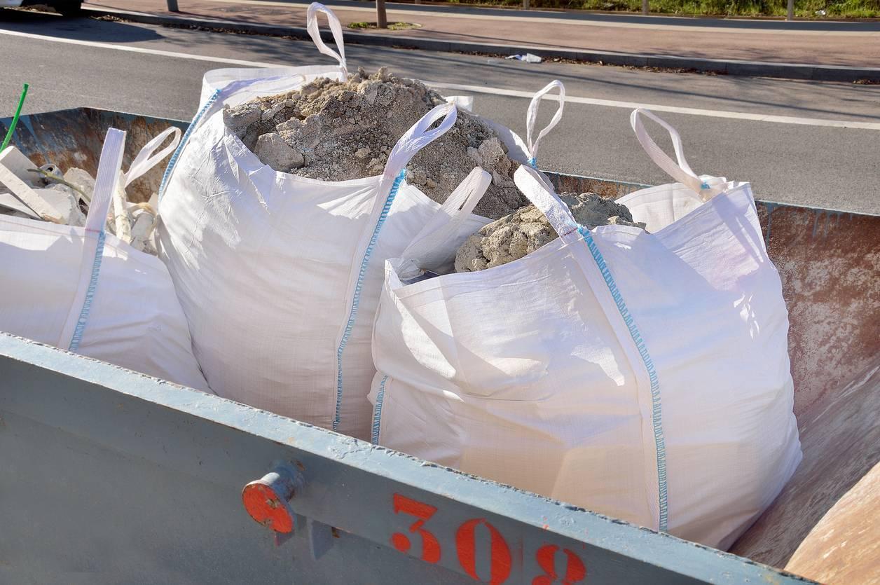 big bags déchets de chantier